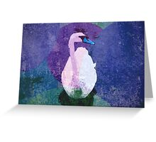Blue Swan Greeting Card