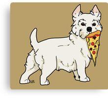 Westie Pizza Canvas Print