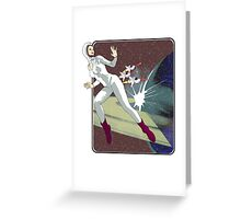Retro Space  Greeting Card