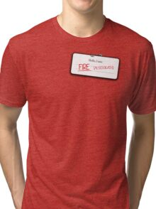 Smaug's name tag Tri-blend T-Shirt