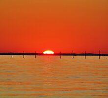 Sundown On The Bay by James Brotherton