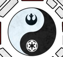 star wars yin yang version 4  Sticker
