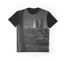 Canadian Skyline With A View On Adams Power Plant Transformer House | Niagara Falls, New York Graphic T-Shirt
