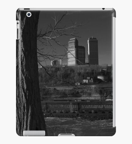 Canadian Skyline With A View On Adams Power Plant Transformer House | Niagara Falls, New York iPad Case/Skin