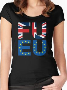 FU EU Anti - European Union T-Shirt  Women's Fitted Scoop T-Shirt
