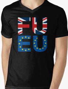 FU EU Anti - European Union T-Shirt  Mens V-Neck T-Shirt