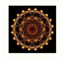 Gold Star Kaleidoscope Art Print
