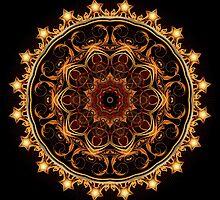 Gold Star Kaleidoscope by fantasytripp