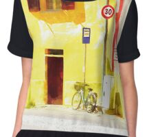 Fognano: view with bicycle Chiffon Top