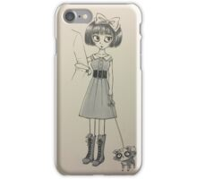 Girl with Racoon iPhone Case/Skin