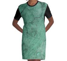 AGED WALL-37 Graphic T-Shirt Dress