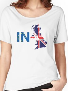 I'm Staying In T-Shirt, Britain Stronger In Europe, Pro EU Women's Relaxed Fit T-Shirt