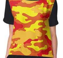 Camouflage (Fire) Chiffon Top