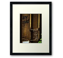 Any Road Framed Print