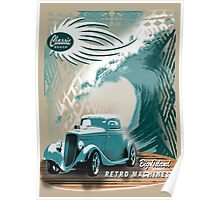 beach roadster  Poster
