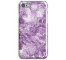 Watercolor purple texture iPhone Case/Skin