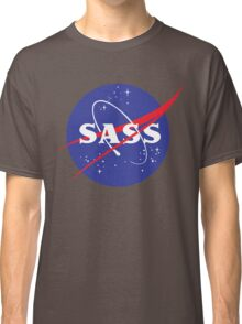 SASS - sassy, feminist, girl geek, nerdy, female scientist gift, nasa gift, astronaut gift, space, cosmos, galaxy Classic T-Shirt