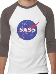 SASS - sassy, feminist, girl geek, nerdy, female scientist gift, nasa gift, astronaut gift, space, cosmos, galaxy Men's Baseball ¾ T-Shirt