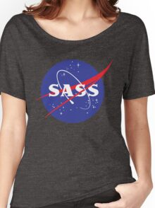 SASS - sassy, feminist, girl geek, nerdy, female scientist gift, nasa gift, astronaut gift, space, cosmos, galaxy Women's Relaxed Fit T-Shirt
