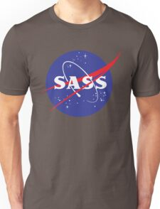 SASS - sassy, feminist, girl geek, nerdy, female scientist gift, nasa gift, astronaut gift, space, cosmos, galaxy Unisex T-Shirt