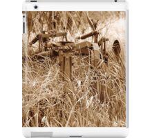 Antique Plow Overgrown in a Field iPad Case/Skin