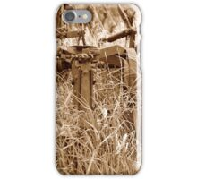 Antique Plow Overgrown in a Field iPhone Case/Skin