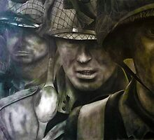Band of Brothers drawing  by Darrel Leigh