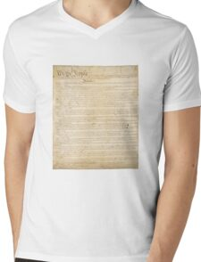 Page 1 of the United States Constitution Mens V-Neck T-Shirt