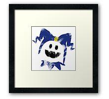 Frosty Splat! Framed Print