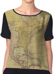 Map of North America (1765) Chiffon Top