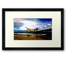 Pier Cartoon Framed Print