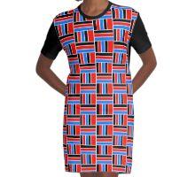 BLOCKED COLOURS Graphic T-Shirt Dress