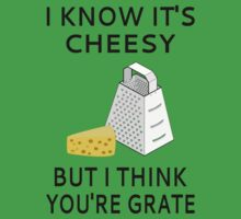I Know It's Cheesy But I Think You're Grate One Piece - Short Sleeve