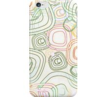 Funky Retro Psychedelic Pattern Crayon Style iPhone Case/Skin