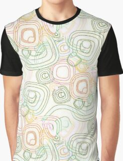 Funky Retro Psychedelic Pattern Crayon Style Graphic T-Shirt