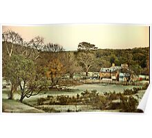Frosty Morning - Hill End NSW Australia Poster