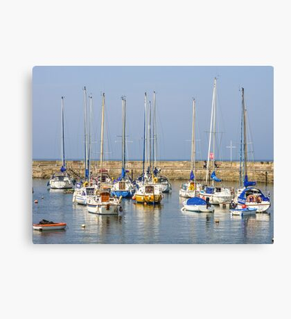 Fishing Boats in Harbour Canvas Print
