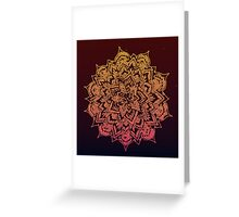 Hand draw mandala design option2 Greeting Card
