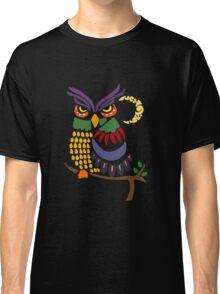 Cool Artistic Owl Bird Abstract Art Classic T-Shirt