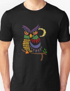 Cool Artistic Owl Bird Abstract Art Unisex T-Shirt