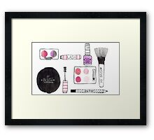 Makeup Collection Framed Print