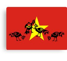 Vietnam, Roosters sparring  Canvas Print