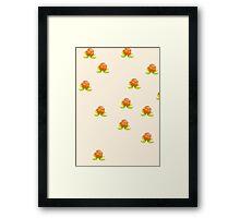 Cloudberry Cream Framed Print
