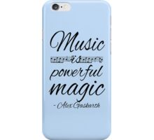 Music is Powerful Magic - AG iPhone Case/Skin