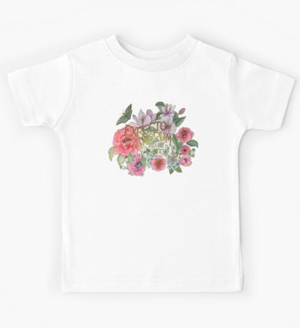 Botanical Floral Quote Kids Tee