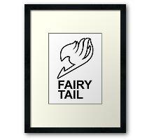 Fairy Tail Anime Guild Mark Logo Render Design Framed Print