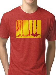 A DAY AT THE POND Tri-blend T-Shirt