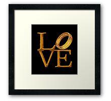 Love is Precious Framed Print