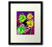 Man Young with Tulips Framed Print