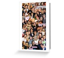 Gillian Anderson and David Duchovny collage Greeting Card